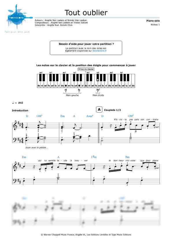 Telechargement partition de chanson